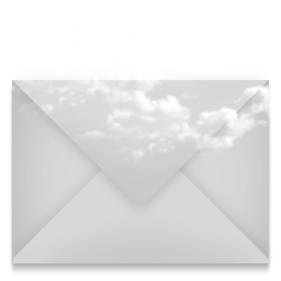 Mail envelope cloud icon