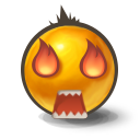 Eyes on fire icon