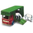 Horse Box with Two Horses icon