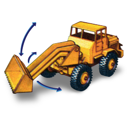 Hatra Tractor Shovel with Movement icon