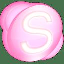 Skype pink icon