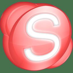 Skype red icon