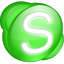 Skype-green icon