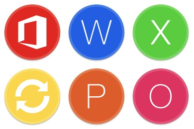 Button UI Microsoft Office Apps Icons