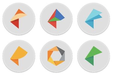 Button UI - Google Nik Collection Icons