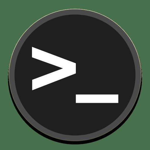 Terminal Icon | Button UI System Apps Iconset | BlackVariant