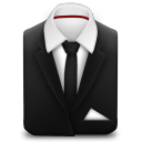 Manager Suit Black Tie icon