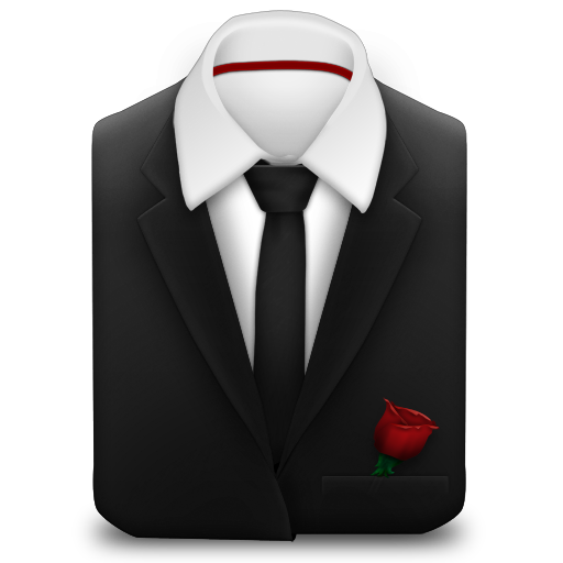 Manager-Suit-Black-Tie-Rose icon