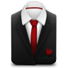 Manager-Suit-Red-Tie-Rose icon