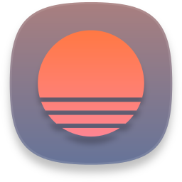 Web sunrise calendar icon