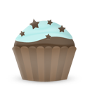 Cupcake cake stars icon