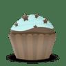 Cupcake-cake-stars icon