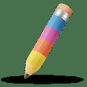 Pencil color icon