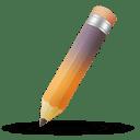 Pencil orange purple icon