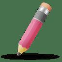 Pencil pink icon
