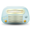 Vintage radio 01 blue icon