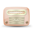 Vintage radio 05 orange icon