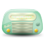 Vintage radio 02 green dark icon