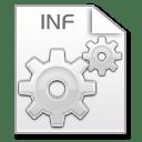 Mimetypes inf icon