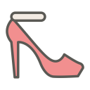 Ankle strap pump icon