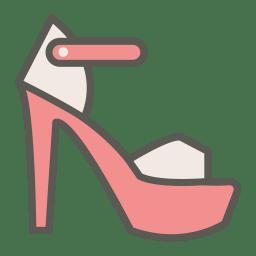 Peep toe pump icon