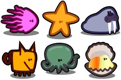 Zootetragonoides 4 Icons