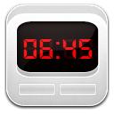 Clock Alarm White icon