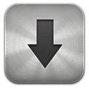 Downloads metal icon