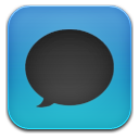 Message black blue icon