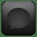 Message black icon