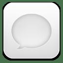 Message white icon