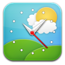 Weather clock 2 icon