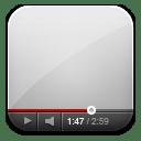 Youtube white icon