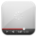 Youtube white wait icon