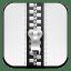 Zip-white icon