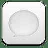 Message-white icon