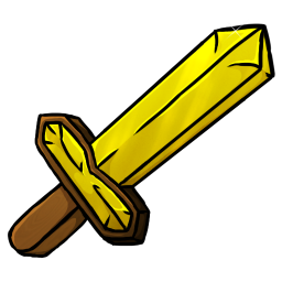 Gold Sword Icon Minecraft Iconset Chrisl21
