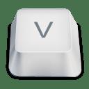 Letter uppercase V icon