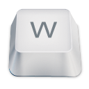 Letter uppercase W icon