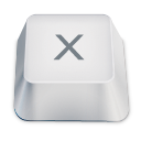 Letter uppercase X icon