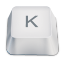 Letter uppercase K icon