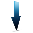 Download bleu icon
