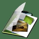 Mes photos vert icon