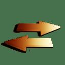 Rafraichir orange icon