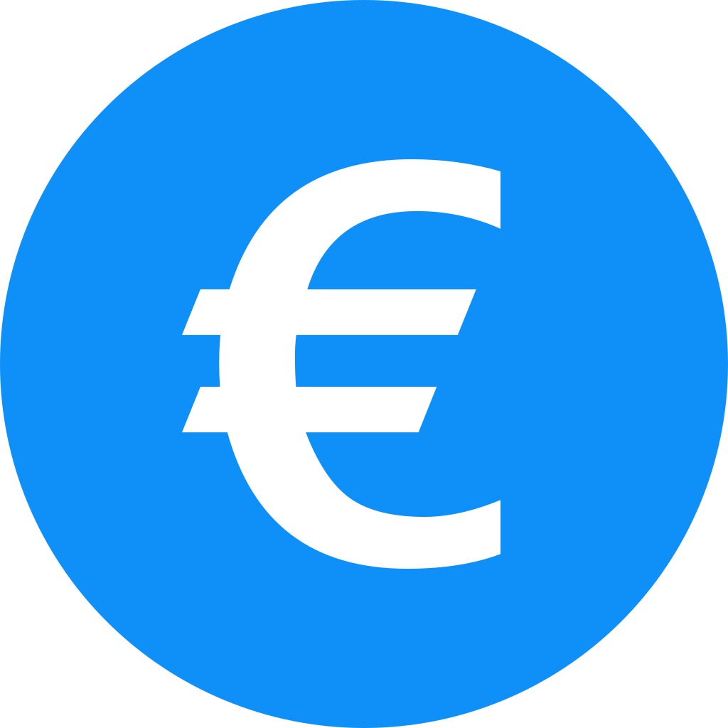 Euro EUR Icon   Cryptocurrency Flat Iconset   Christopher Downer