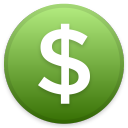 Dollar USD icon