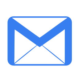 Communication email blue icon