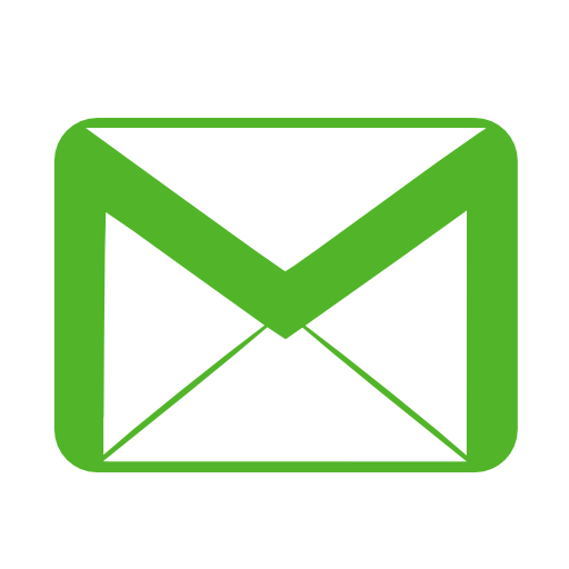 Communication-email-green icon