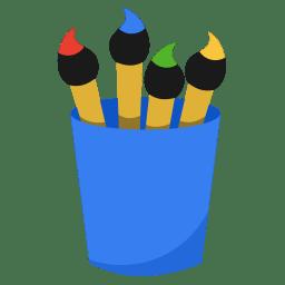 Media paint icon