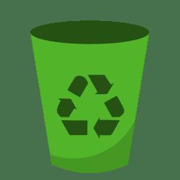 System recycling bin empty icon